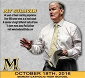 Pat Sullivan at Marian Catholic High School