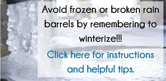 Winterize your rain barrels