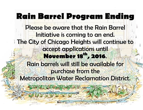 Rain Barrel Program Ends