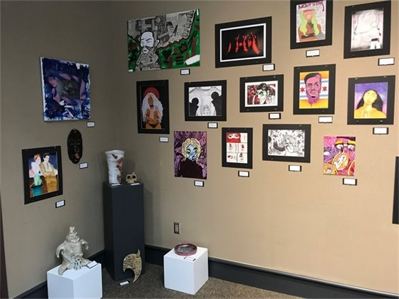 Bloom High School Students Exhibit at South Shore Arts