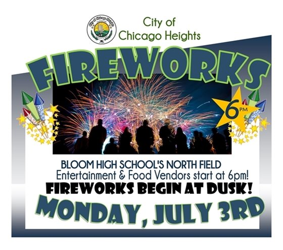 Fireworks July 3rd, 2017 at 6pm