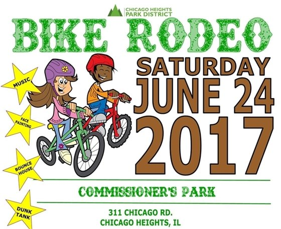 City of Chicago Heights Park District Bike Rodeo Saturday June 24 2017