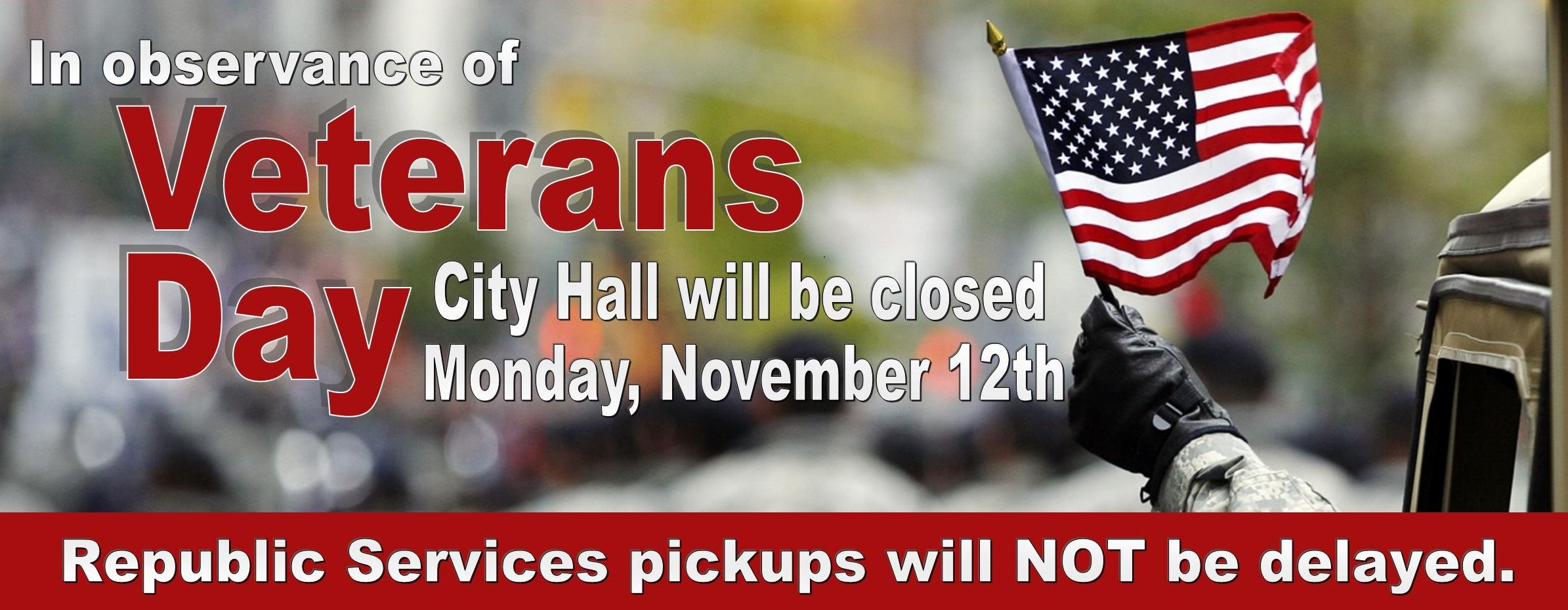 Veterans day closed