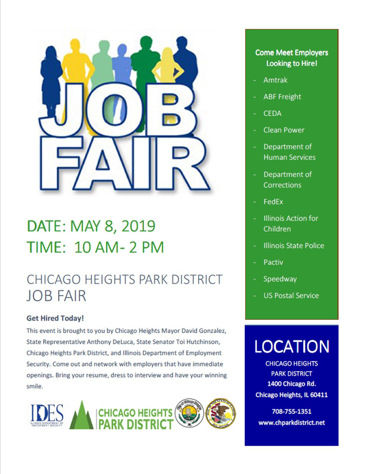 5.8.2019 Chicago Heights Job Fair Flyer