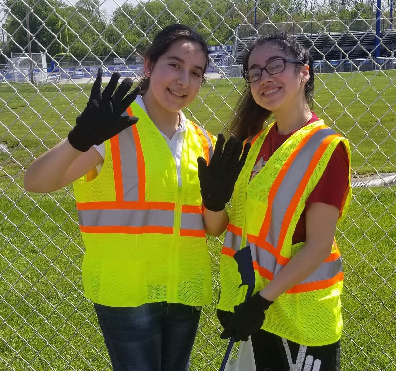 Two Bloom Township High School Students Volunteer on Clean-Up Day, Saturday, May 18, 2019!