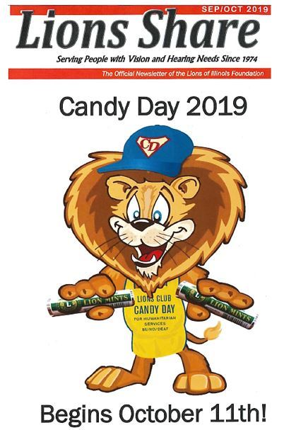 Flyer - Lions Club - Annual Candy Day - Friday, October 11, 2019