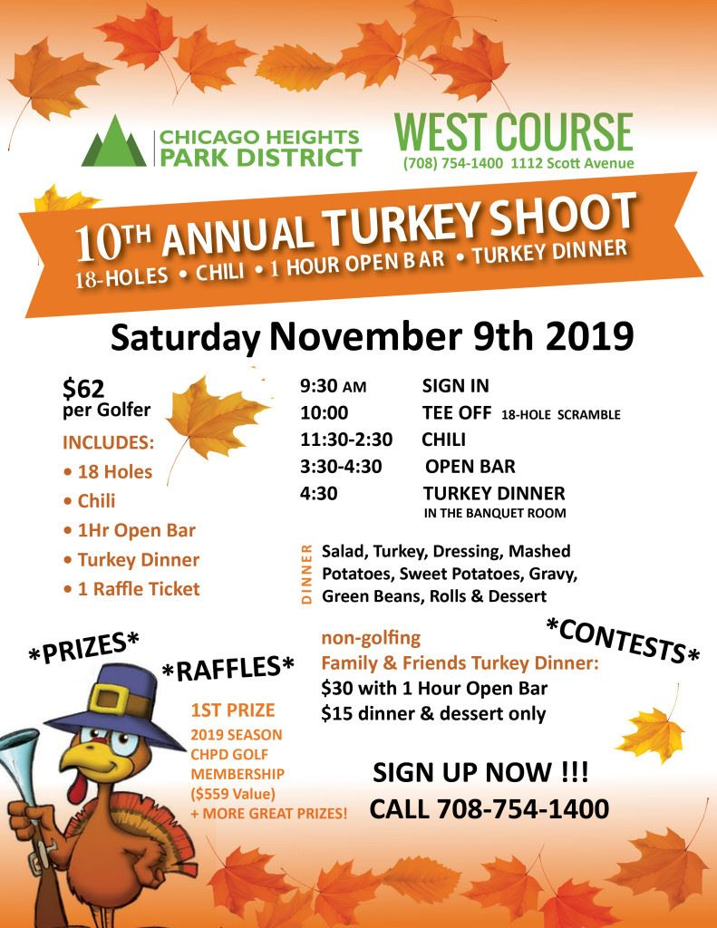 Flyer - C.H. Park District Turkey Shoot Golf Outing