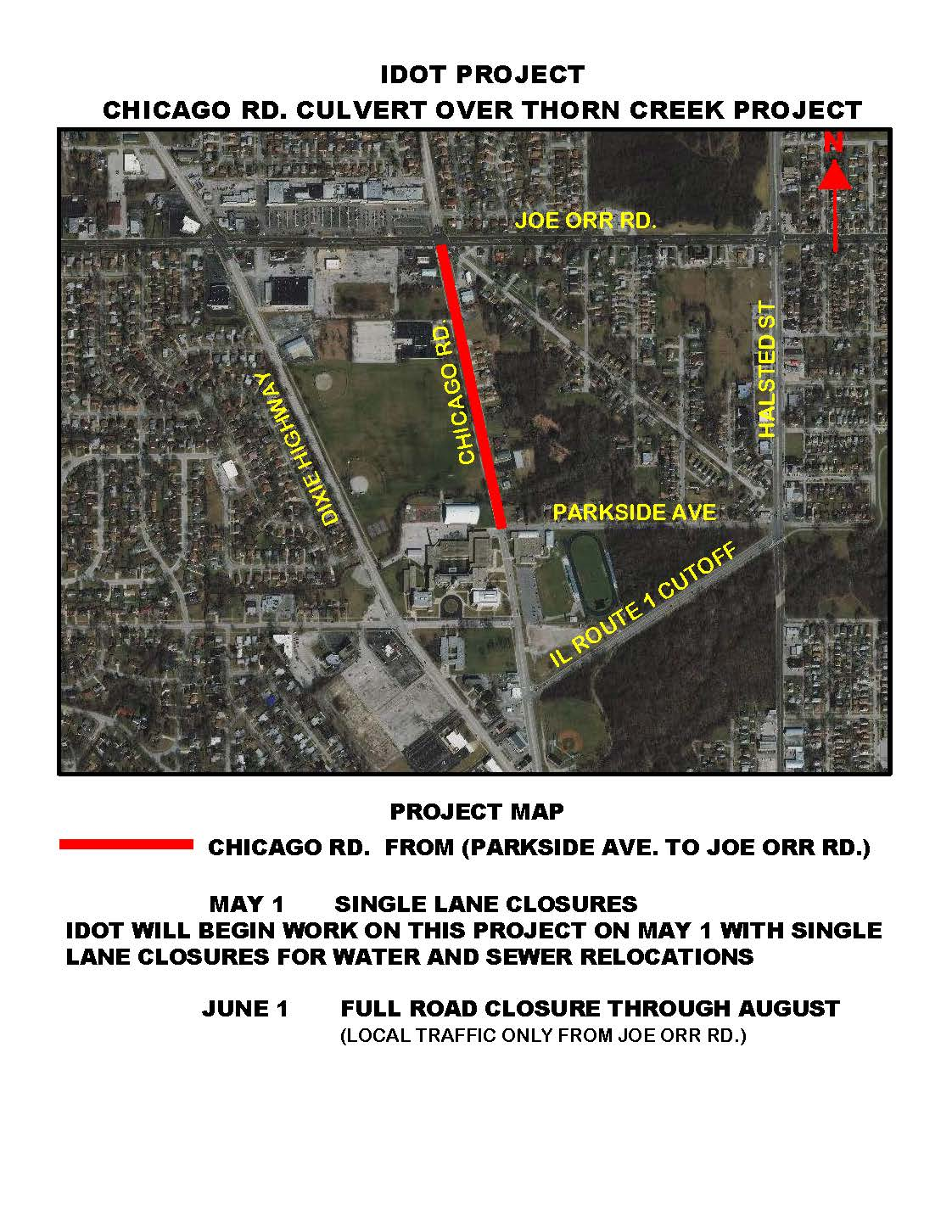 IDOT - THORN CREEK CULVERT PROJECT MAP