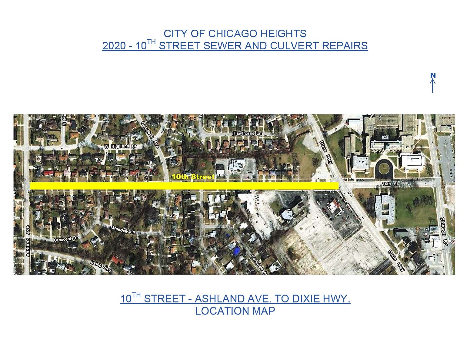 10th Street Culvert and Sewer Project Letter and Map to Select 4th Ward Residents October 26 2020_Pa