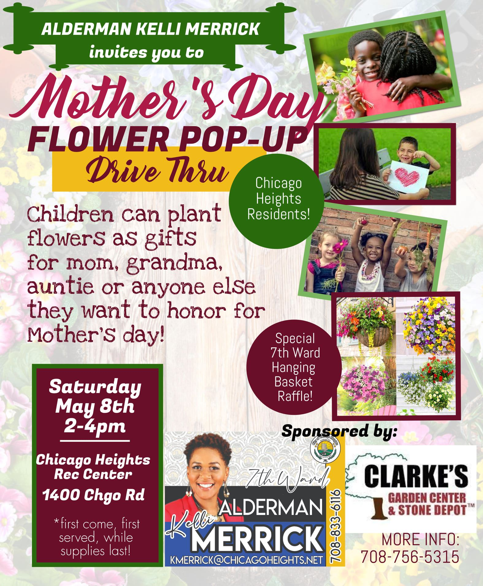 Flyer Ward 7 Mothers Day Flower Pop Up Event