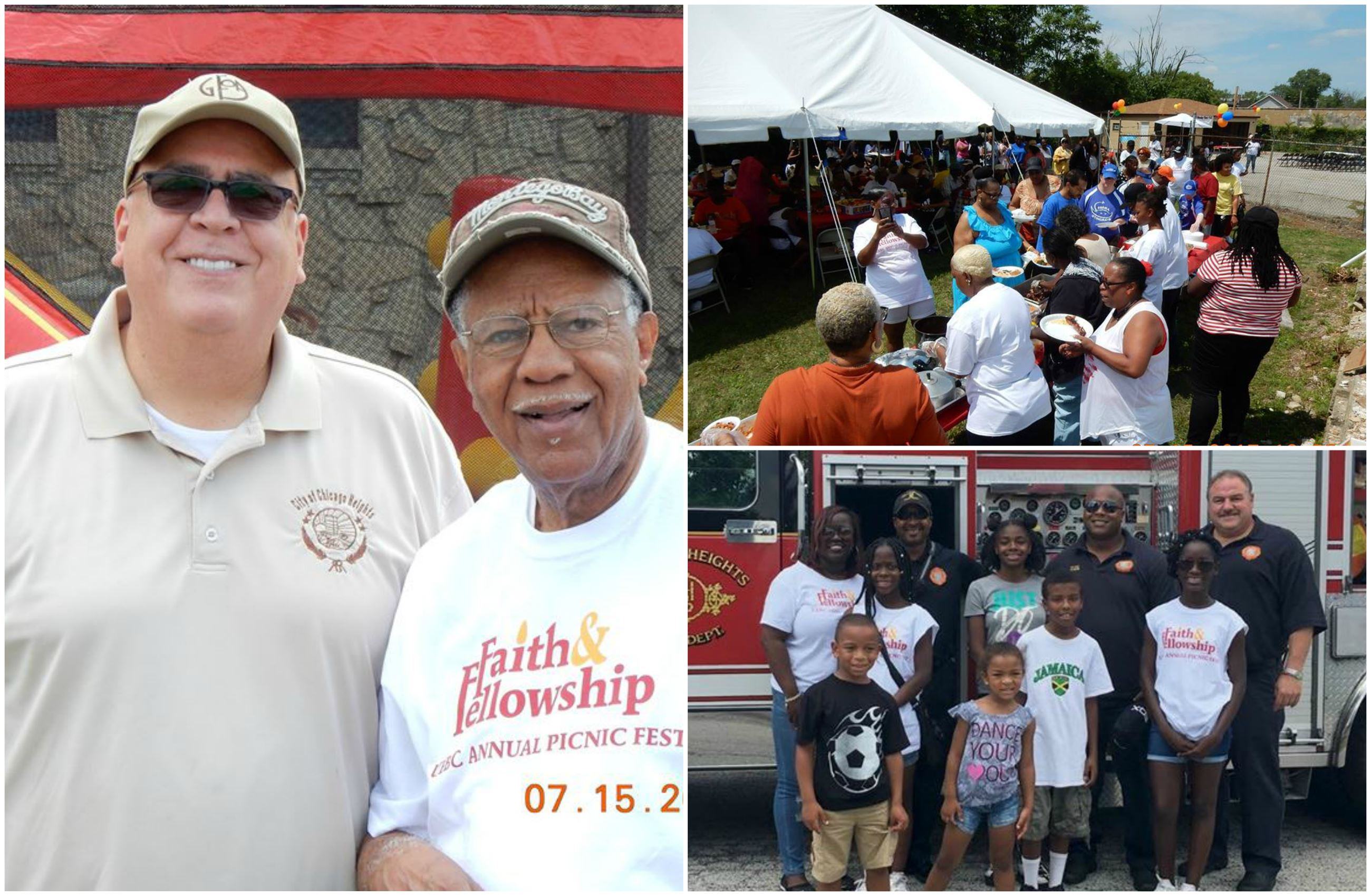 It was a beautiful day for the UEBC's 1st Faith & Fellowship BLOCKFEST on July 15th!  In addition