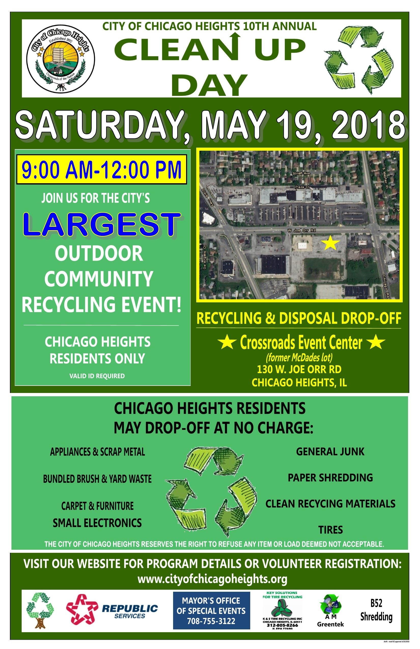 2018 Clean Up Day Poster