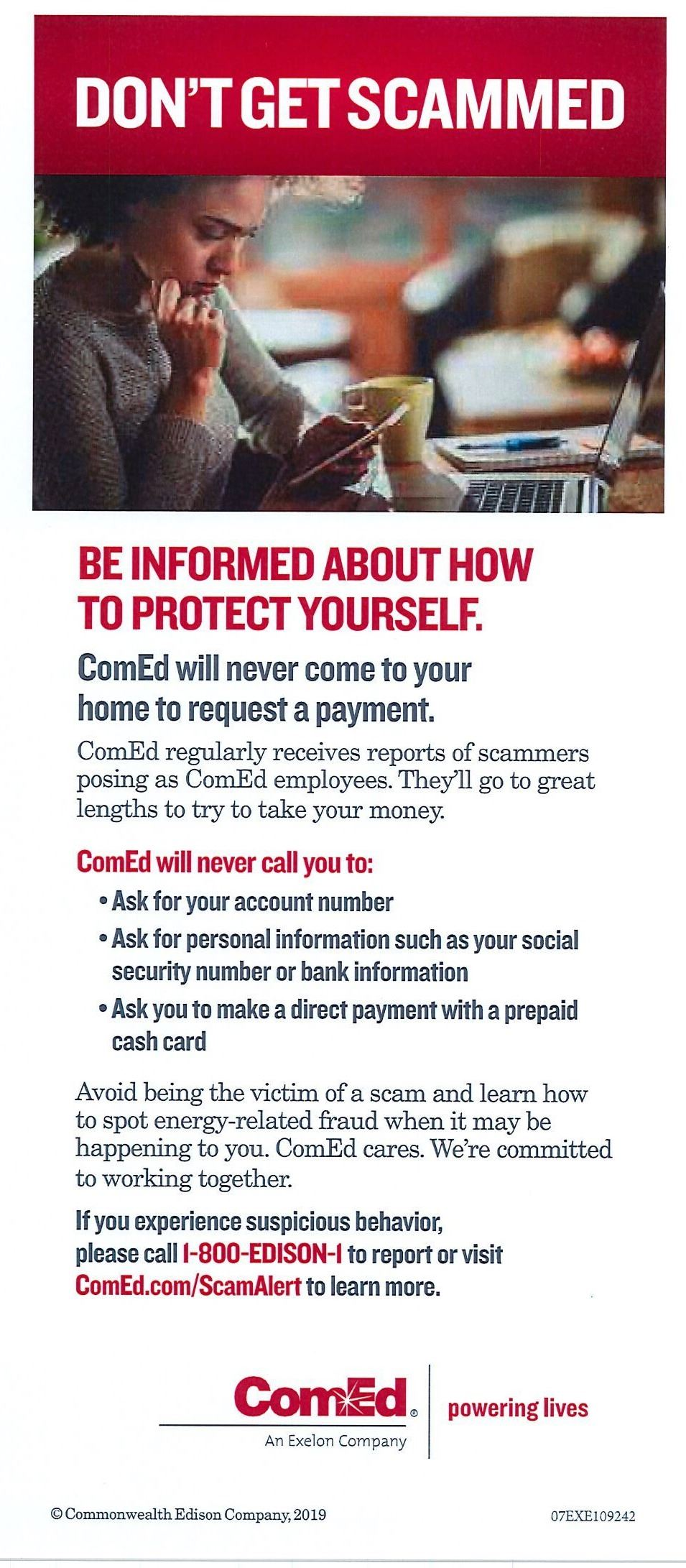 ComEd Fraud Prevention Tips