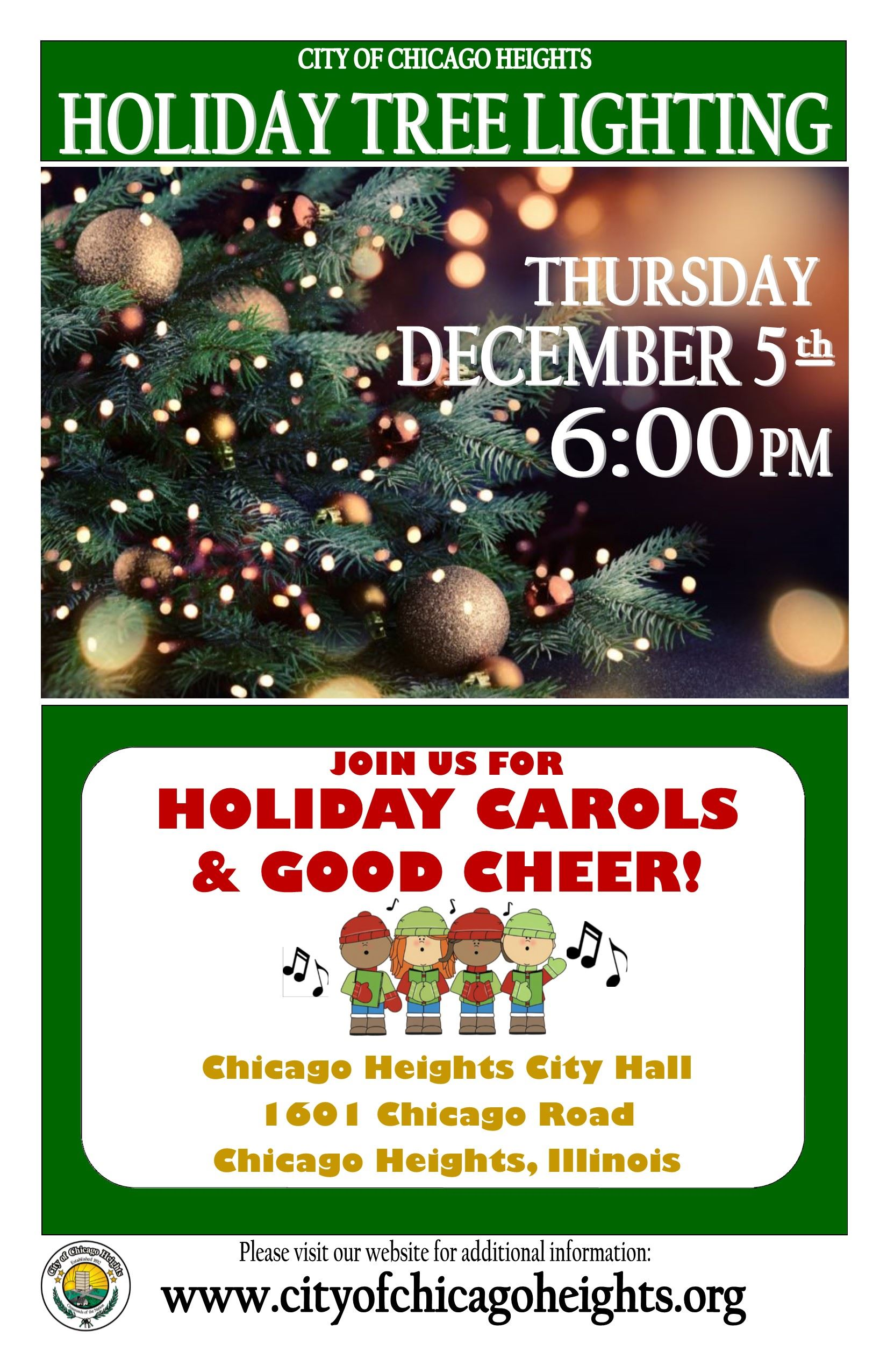 2019 - Tree Lighting Flyer