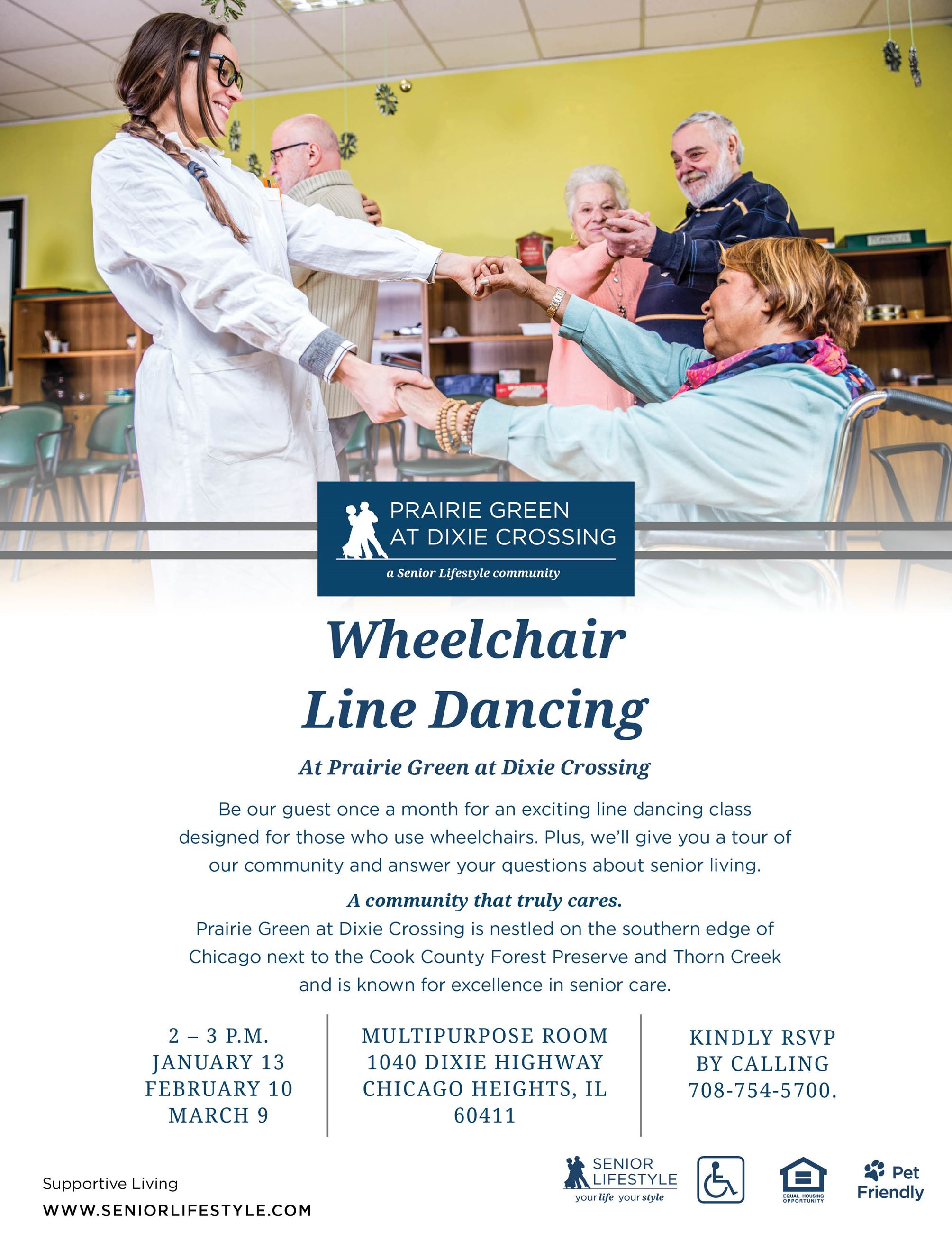 Prairie Green at Dixie Crossing - Wheelchair Line Dancing Classes 2020