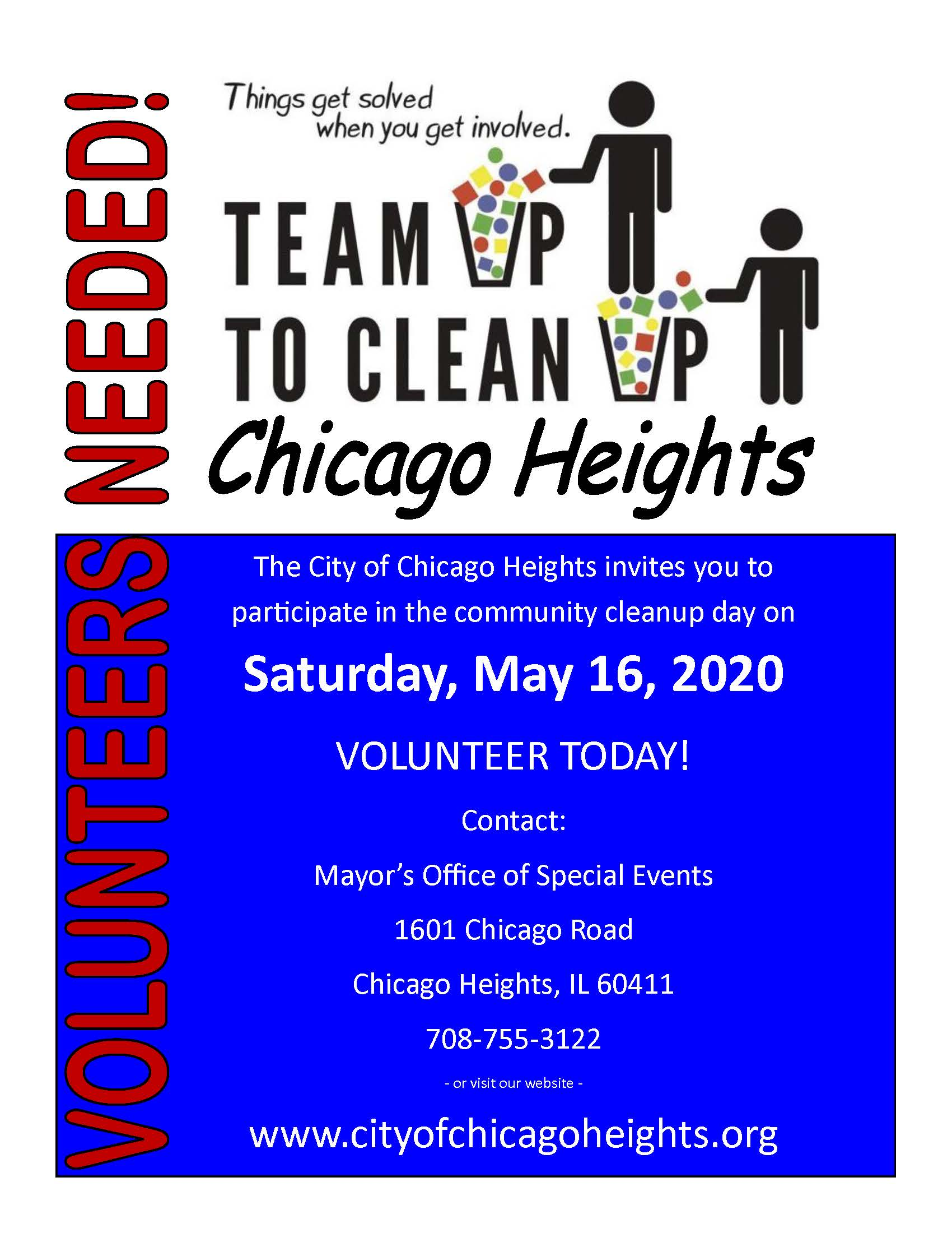 Cleanup Day 2020 - Volunteers Needed