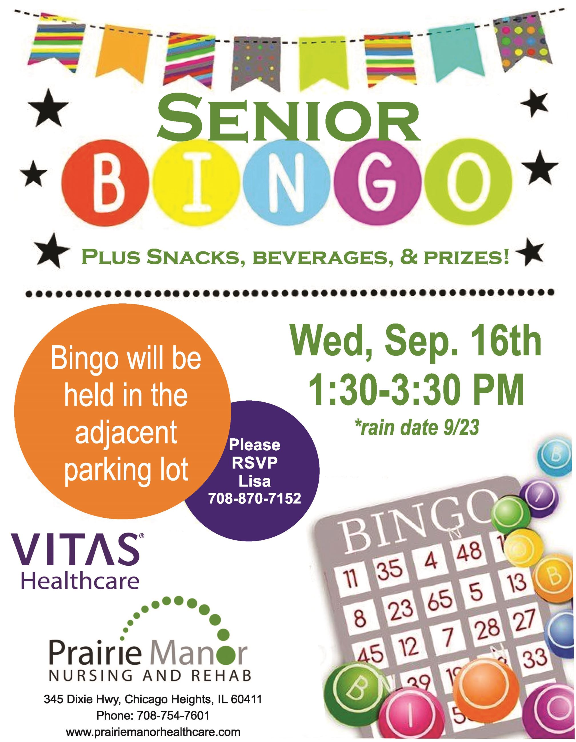 Bingo at Prairie Manor