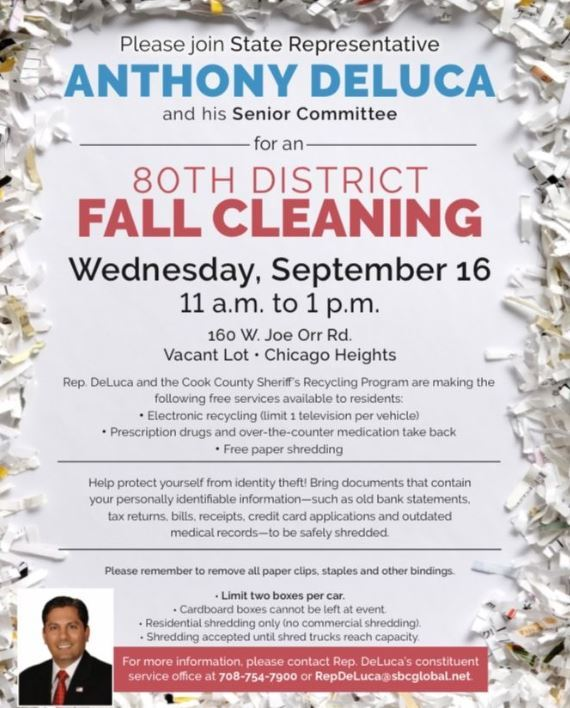 Flyer - Recycling Shredding Event