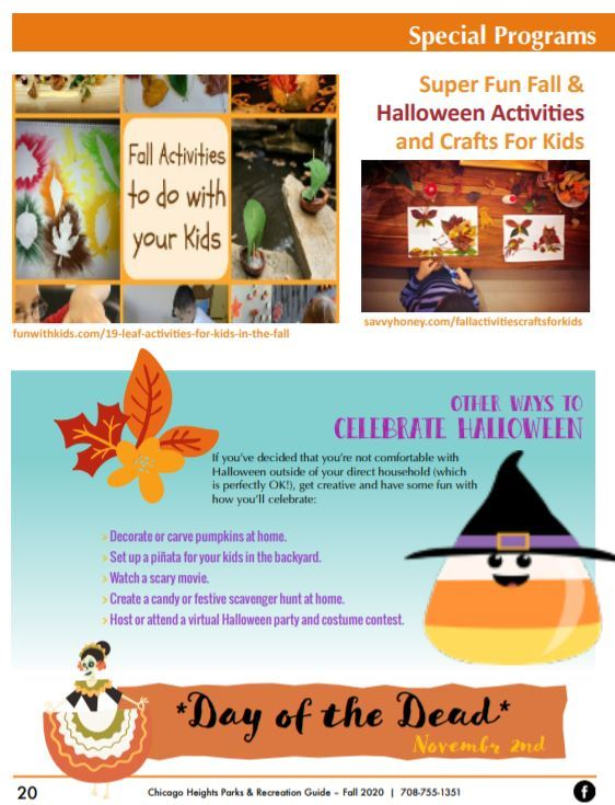 Park District Halloween related activities