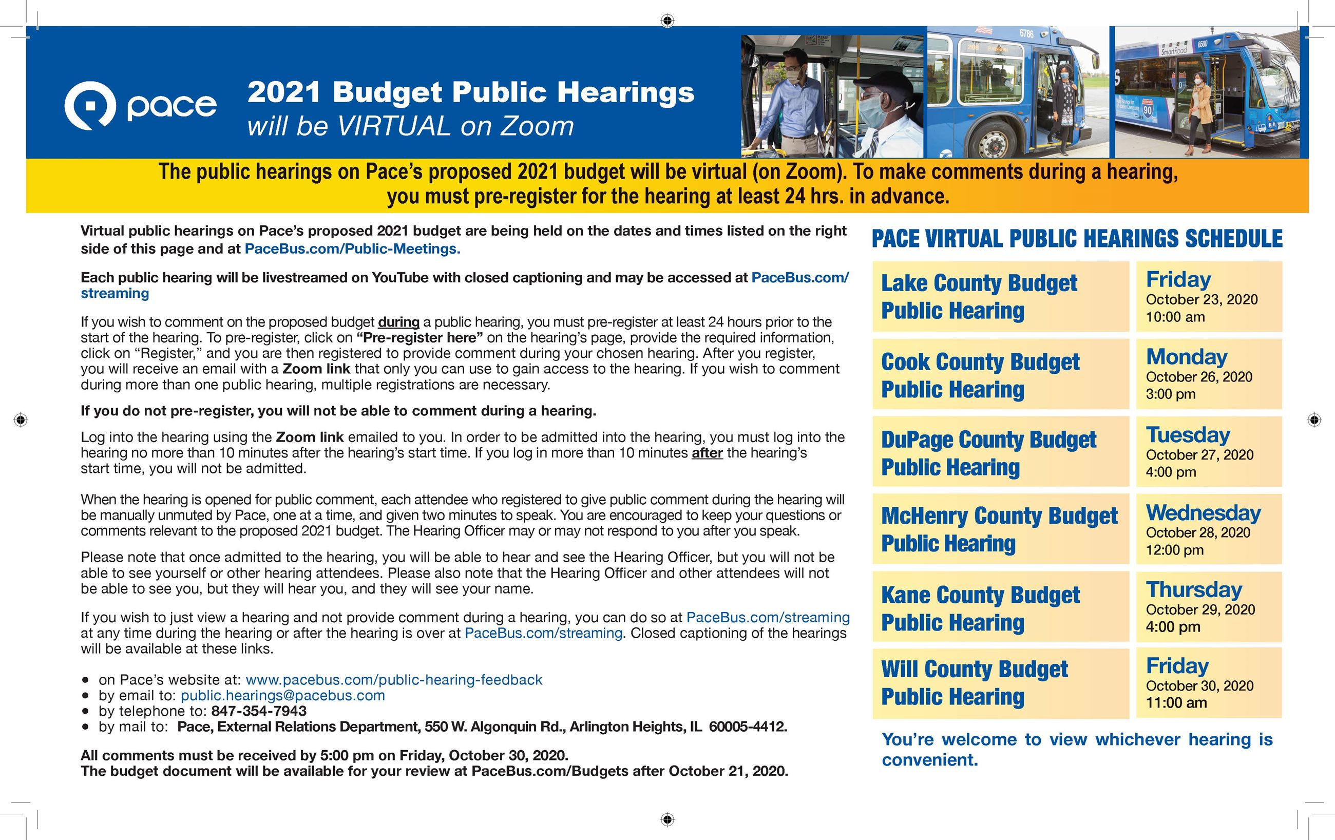 Pace 2021 Budget Public Hearing Schedule  Information Page_1