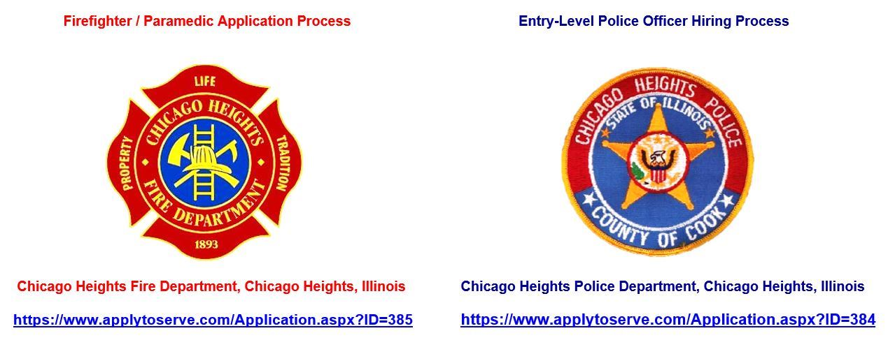 CHFD and CHPD logos URL links hiring process