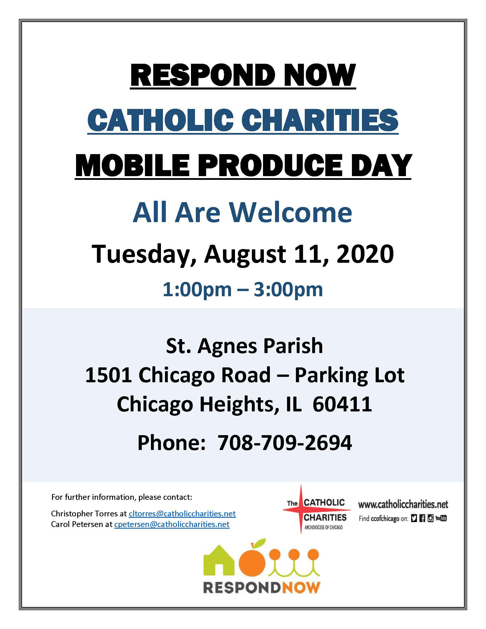 Respond Now Mobile Produce Flyer